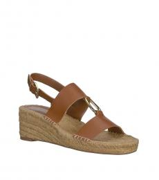 Ralph Lauren Deep Saddle Bena Espadrille Wedges