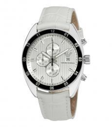 Emporio Armani White Chronograph Watch