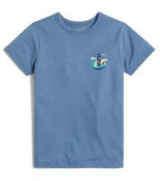 J.Crew Little Boys Delphinum Blue Graphic T-Shirt