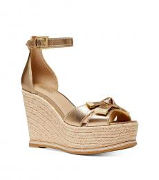 Michael Kors Pale Gold Ripley Wedges