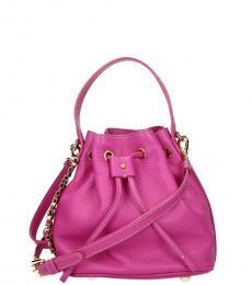 Moschino Pink Classic Mini Bucket Bag