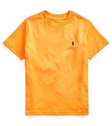 Ralph Lauren Little Boys Thai Orange Crewneck T-Shirt