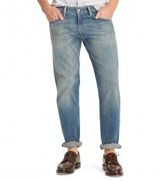 Ralph Lauren Blue Hampton Relaxed Straight Jeans