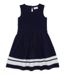BCBGirls Girls Deep Sea Navy Sleeveless Dress