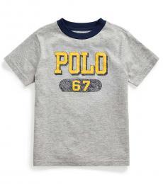 Ralph Lauren Little Boys Andover Heather Logo T-Shirt