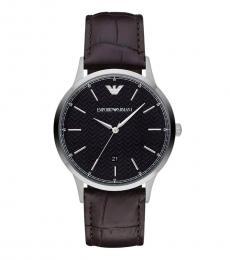 Emporio Armani Brown-Black Dial Watch