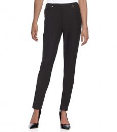 Michael Kors Black Solid Knit Leggings