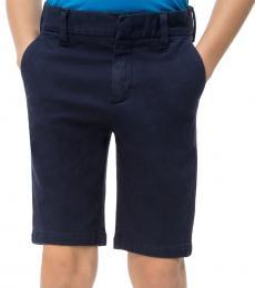 Calvin Klein Boys Peacot Cotton Canvas Shorts