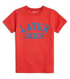 J.Crew Little Boys Warm Rhubarb Graphic T-Shirt
