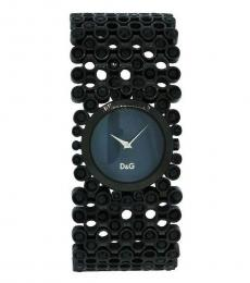 Black Mother Of Pearl Stones Watch