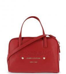 Versace Jeans Red Couture Large Satchel