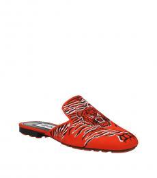 Kenzo Red  Printed Mules