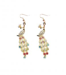 Multi color Peacock Rainbow Earrings