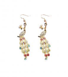 Betsey Johnson Multi color Peacock Rainbow Earrings