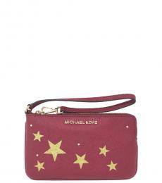 Red Glitter Star Wristlet