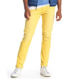 7 For All Mankind Yellow Adrien Slim Straight Jeans