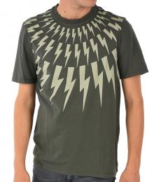 Green Thunder Printed T-Shirt