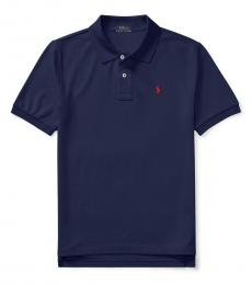 Ralph Lauren Boys Navy Mesh Polo