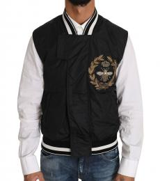 Dolce & Gabbana Black Royal Crown Bee Logo Jacket