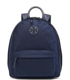 Tory Burch Navy Ella Medium Backpack