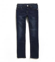 True Religion Boys Dark Blue Slim Straight Leg Jeans