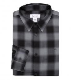 Black Plaid Dress Shirt