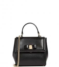 Salvatore Ferragamo Black Carrie Mini Satchel