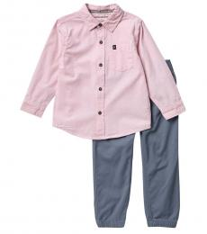 Calvin Klein 2 Piece Shirt/Pants Set (Little Boys)