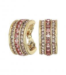 Gold-Light Rose Small Huggie Hoop Earrings