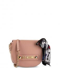 Love Moschino Pink Scarf Mini Crossbody