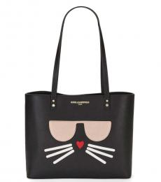 Black Maybelle Cat Medium Tote
