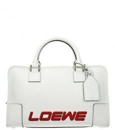 Loewe White Amazona Large Satchel