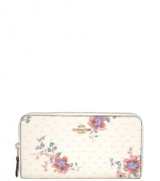 Coach Chalk Accordion Zip Bouquet Print Wallet
