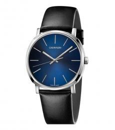 Calvin Klein Black Posh Blue Dial Watch