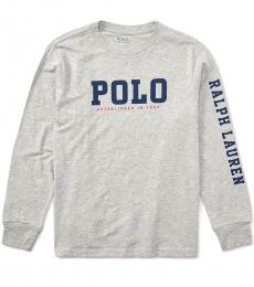 Ralph Lauren Boys Andover Heather Graphic T-Shirt