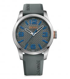 Hugo Boss Grey Silicone Strap Watch