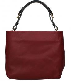 Maroon Solid Large Hobo