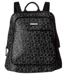 Black Monogram Large Backpack