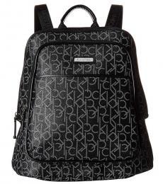 Calvin Klein Black Monogram Large Backpack