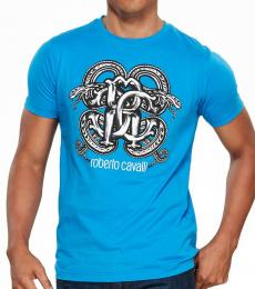 Turquoise Graphic Logo Print T-Shirt