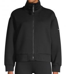 DKNY Black Graphic Logo Bomber Jacket