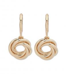 Gold Knotted Drop Earrings