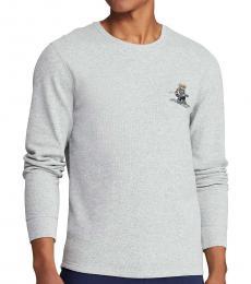 Ralph Lauren Grey Rugby Bear Waffle Shirt