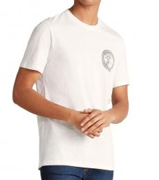 Versace Collection White Round Chest Logo T-Shirt