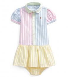 Ralph Lauren Baby Girls Multicolor Oxford Shirtdress