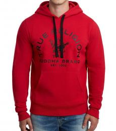 True Religion Red Buddha Pullover Sweatshirt