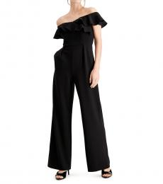 Calvin Klein Black Ruffled OffShoulder Jumpsuit