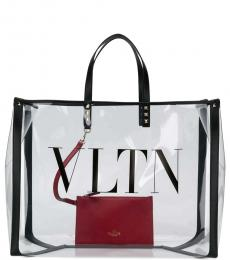 Transparent VLTN Large Tote