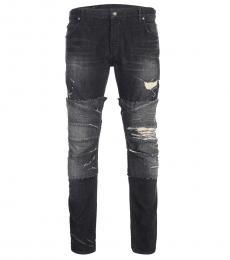 Balmain Dark Grey Slim Fit Jeans