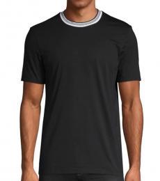 Black Regular-Fit Cotton T-Shirt